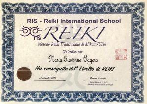 1° livello Reiki