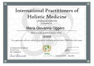 certificate IPHM 2020